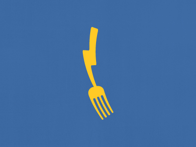 Fork / Lightning Logo by Sean Farrell