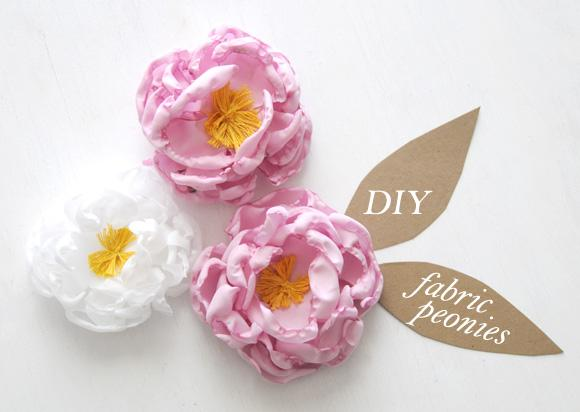DIY Fabric Peony Flower Accessories + Gift Toppers - Home - Creature Comforts - daily inspiration, style, diy projects + freebies
