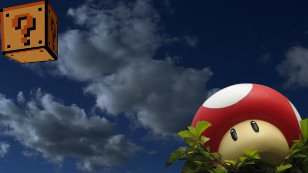 clouds,mushrooms clouds mushrooms one million years bc oneup 1920x1080 wallpaper – Mario Wallpaper – Free Desktop Wallpaper