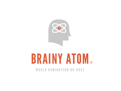 Brainy Atom Logo by Sean Farrell