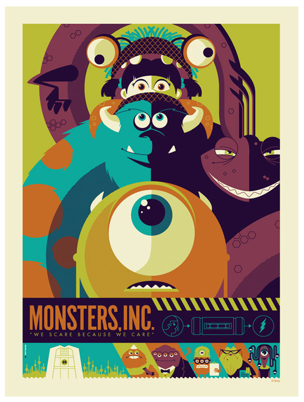 Monsters Inc, we scare because we care.