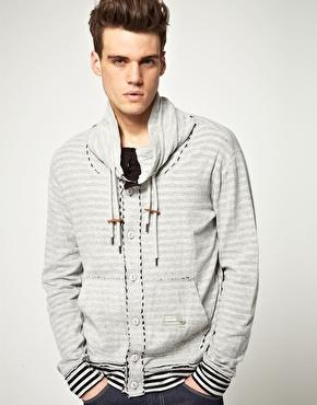 Diesel | Diesel Sjhionyx Stripe Button-Up Sweatshirt at ASOS