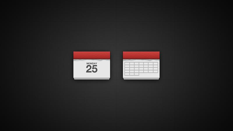 Simple Calendar Icon | PixelsDaily