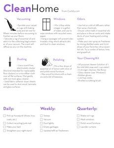 Free House Cleaning Cheat Sheet (and Check List)! » Curbly | DIY Design Community