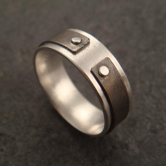 Narrow the Gap a ring in sterling silver by DownToTheWireDesigns