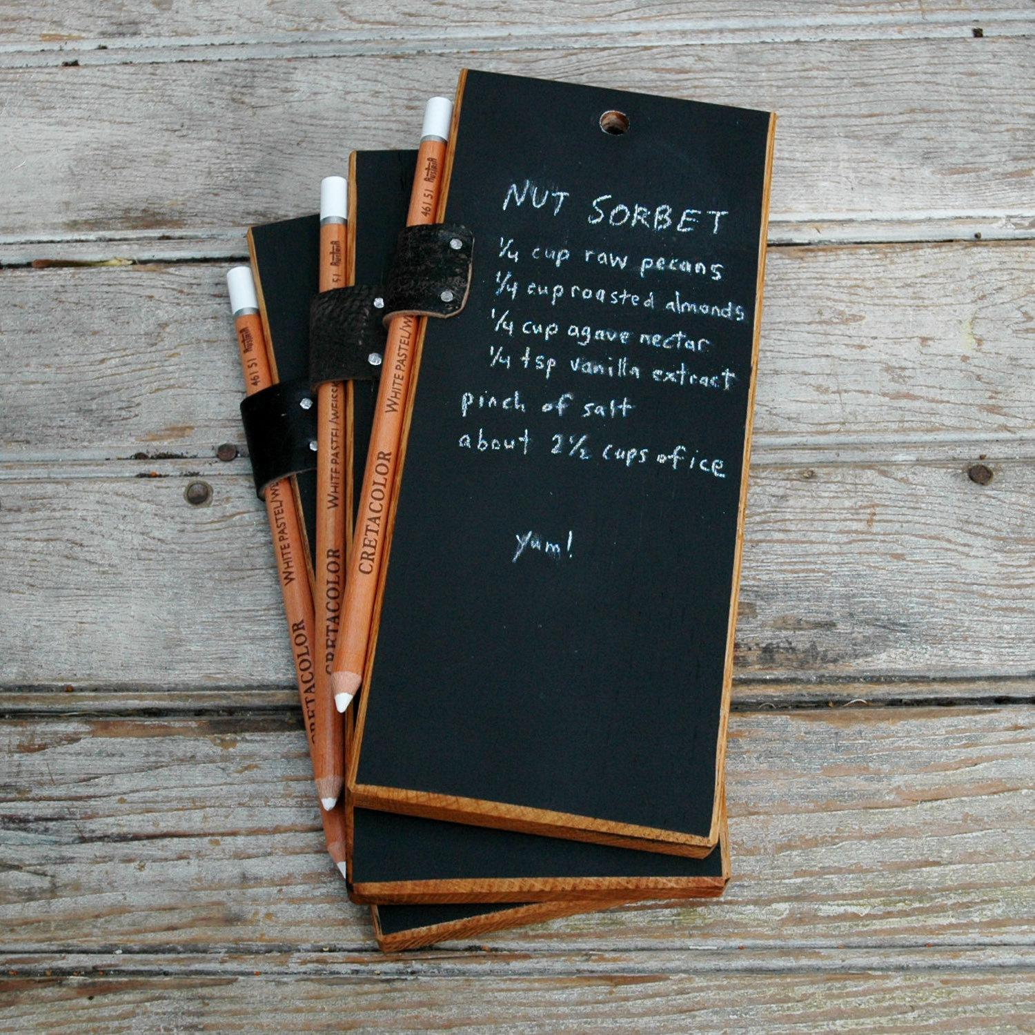 Trio of Chalkboard Tablets by PegandAwl on Etsy