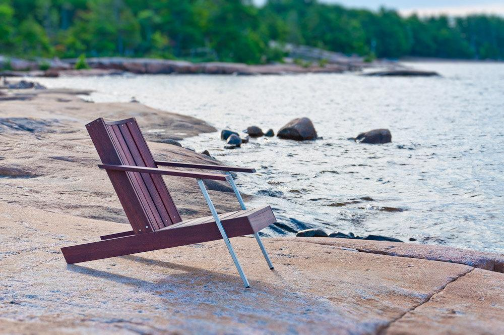 Modern Adirondack Chair in Rosewood 'Deckster' by StudioLiscious