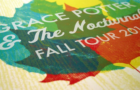 Designspiration — Grace Potter & The Nocturnals Fall Tour Poster - FPO: For Print Only