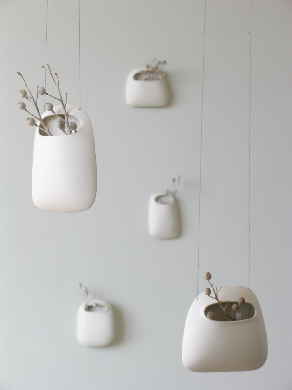 Small Hanging Vertical Pod Wall Vase by wendyjung on Etsy
