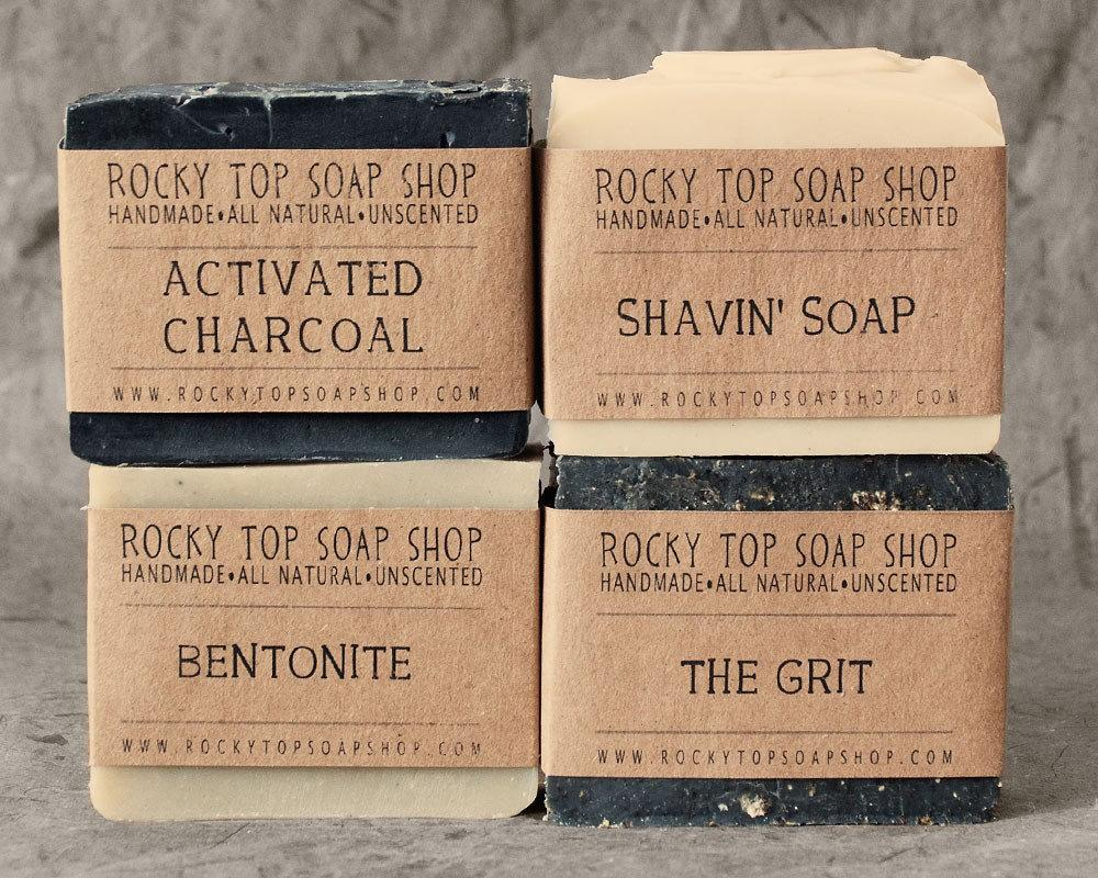 Father's Day Sale Manly Man Soap Set Natural by RockyTopSoapShop
