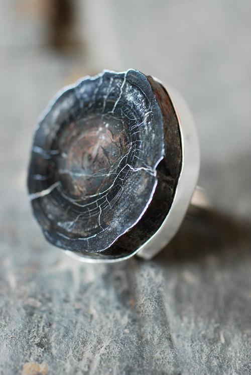 Fossil Whaling Ring by dollybirddesign on Etsy
