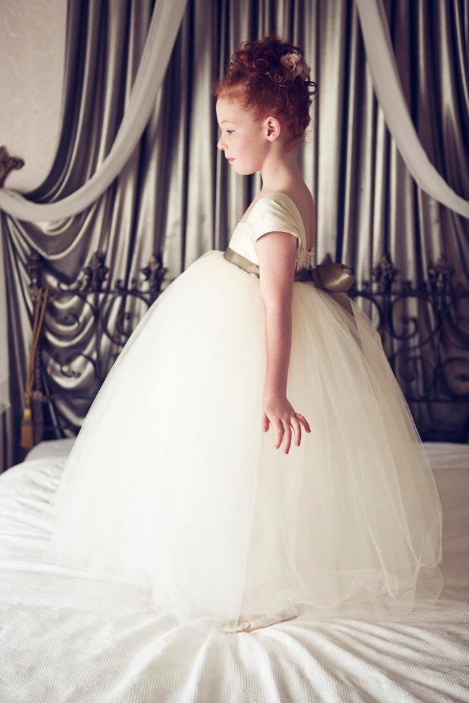 Flower Girl Dress Ivory by OliviaKateCouture on Etsy