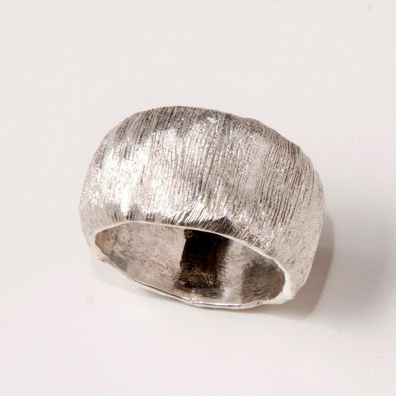 Fur sterling silver ring unisex ring wedding ring by doronmerav