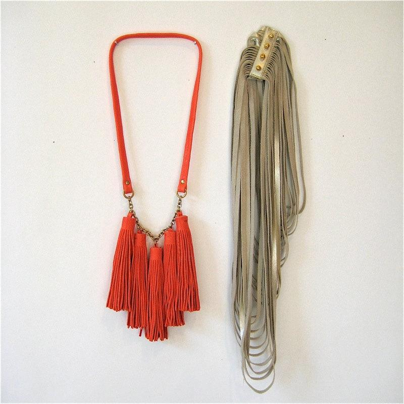 Combo Package // 1 Leather Tassel and 1 Uni Loop by threehorses