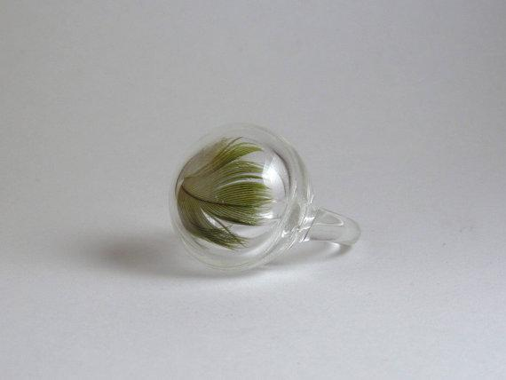 glass pocket ring by sarahdeee on Etsy