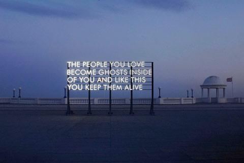 Robert Montgomery hijacks billboards for art — Lost At E Minor: For creative people