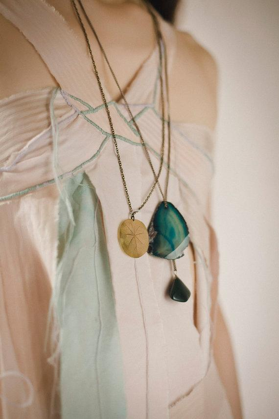 Real Leaf Necklace Nasturtium Real Plant Jewelry by AhoyAhimsa