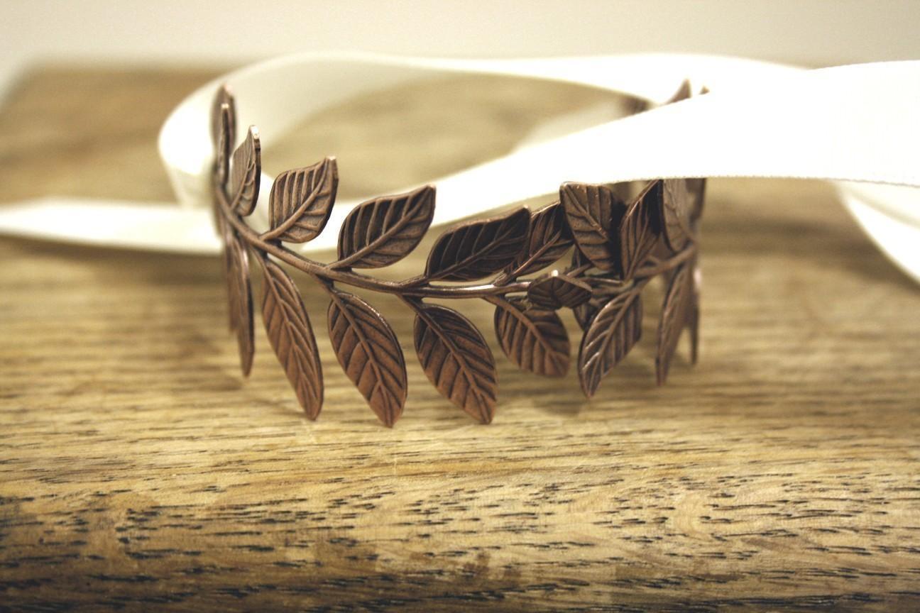 ATHENA III Grecian Laurel Leaf Wrap Bracelet by PompAndPlumage