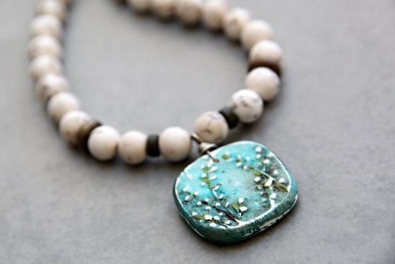 Secret Garden Magnesite Necklace with by moagsandsmeet on Etsy