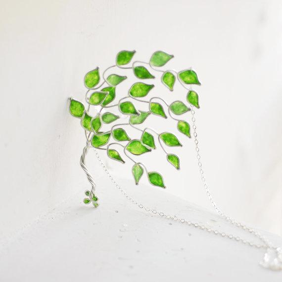 Lime Grove Tree Necklace Sterling Silver Tree by TaylorsEclectic