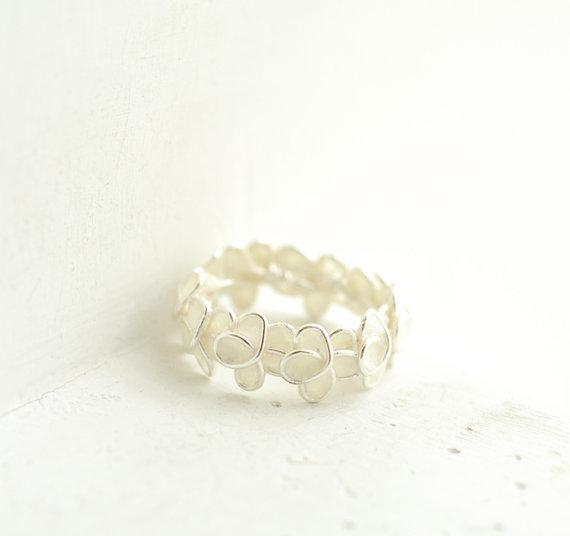 Snow White Forget Me Not Ring in Sterling by TaylorsEclectic