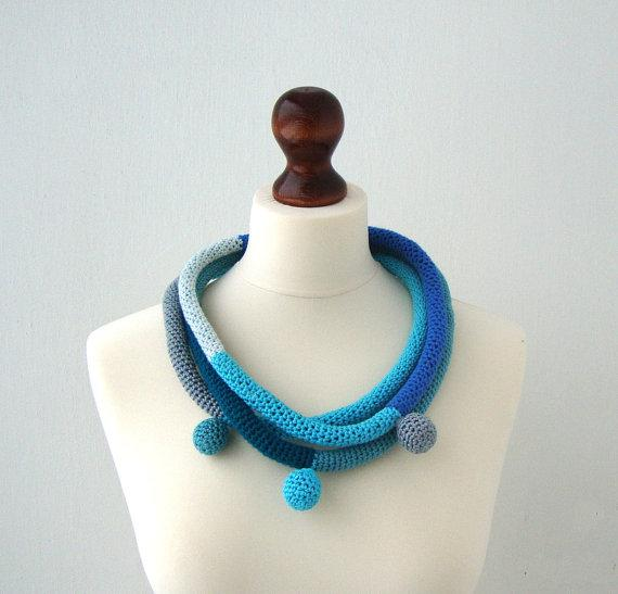 Spring fiber necklace modern fashion tribal necklace by dekkoline