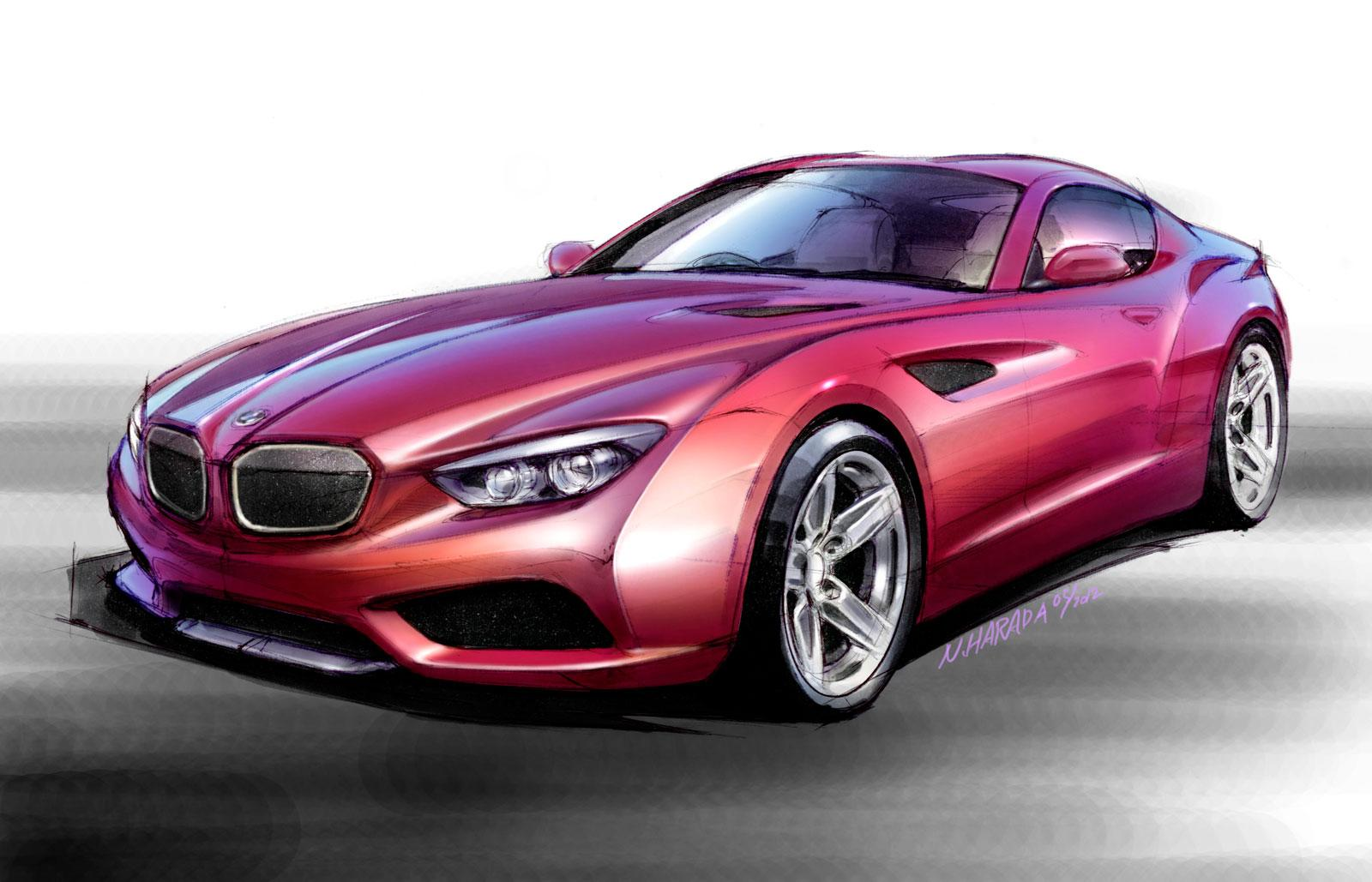BMW Zagato Coupé - Design Sketch by Norihiko Harada, Chief Designer Zagato - Car Body Design