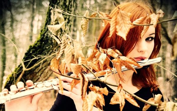 ,autumn women autumn forest leaves redheads flute 1680x1050 wallpaper – Autumn Wallpaper – Free Desktop Wallpaper
