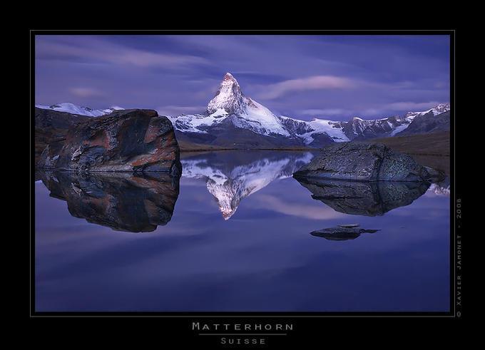 Matterhorn at dawn: Photo by Photographer Xavier Jamonet - photo.net