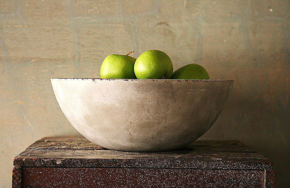 Concrete Fruit Bowl French Country by atstuart on Etsy