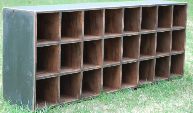 Primitive Apothecary Cubby Hole Cupboard Desk Top by redroosterbab