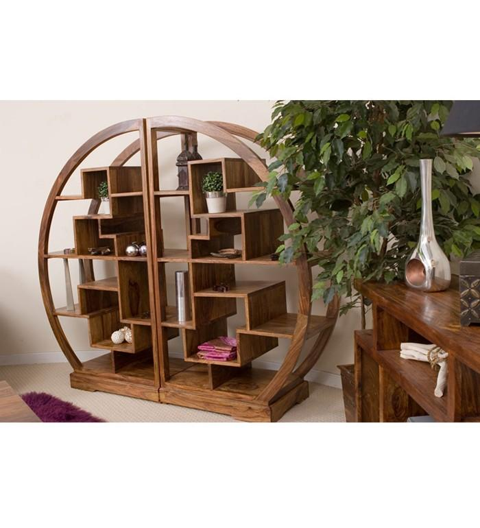 Buy Cube Curved Display Bookcase | Racks & Cabinets | Pepperfry.com