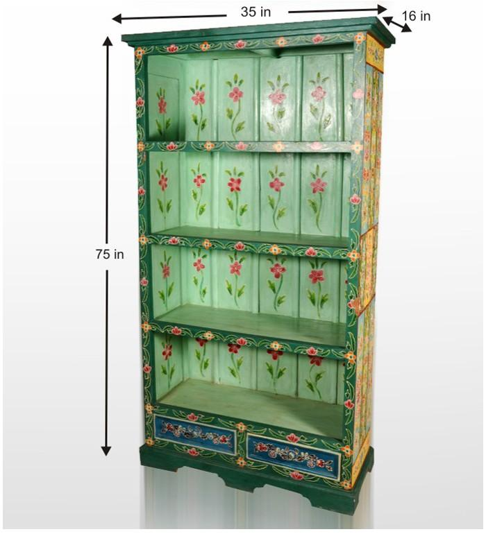 Buy Vibrant And Lively Wooden Book Case | Racks & Cabinets | Pepperfry.com