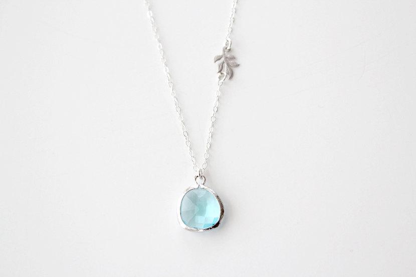 Something New and Blue Necklace Silver by junghwa on Etsy