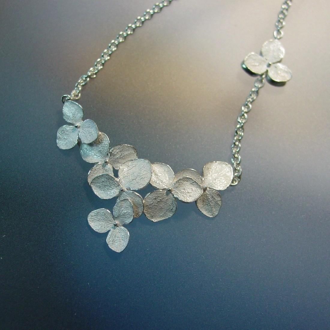 Hydrangea Cluster Necklace by PatrickIrlaJewelry on Etsy