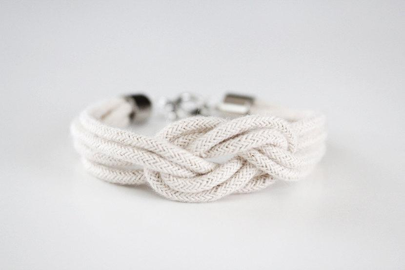 Rope Bracelet Knot Bracelet Be A Square Knot by junghwa on Etsy