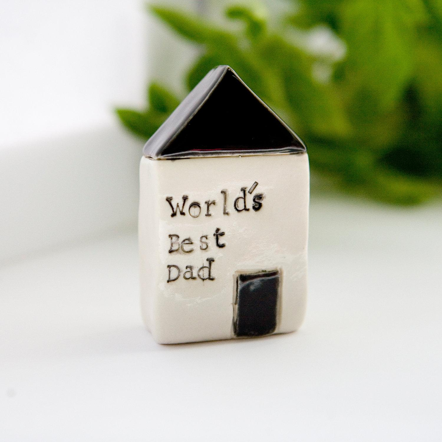 Fathers Day Gift World's Best Dad black and by DianaParkhouse