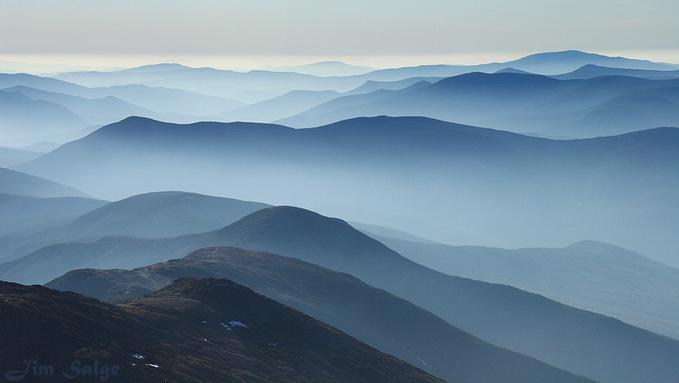 White Mountains in Blue: Photo by Photographer Jim Salge - photo.net
