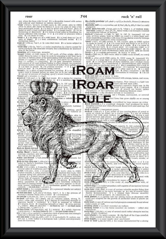 Lion King Vintage Dictionary Page Art iRoam iRoar by woodendoll