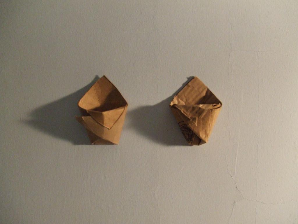 Origami hanging planter | Flickr - Photo Sharing!