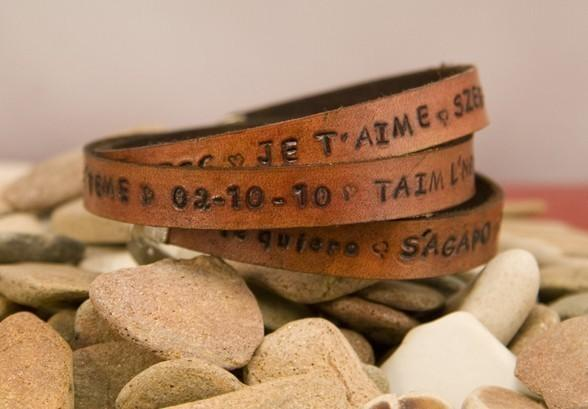 double leather message wrap customizable your by MichelleVerbeeck