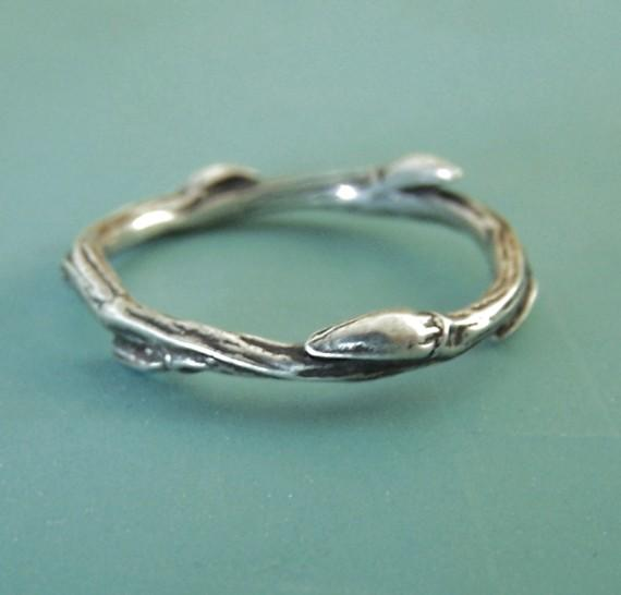 Sterling Silver Twig Ring Willow by esdesigns on Etsy