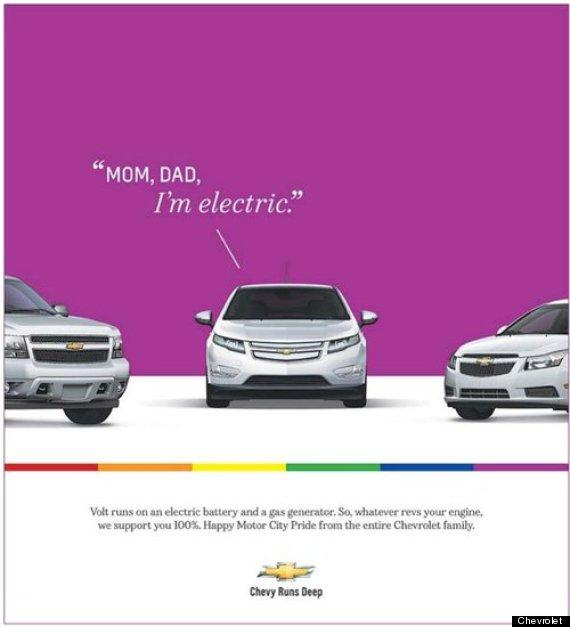 Chevrolet Volt 'Comes Out' In New Ad For Detroit's Motor City Gay Pride Celebration