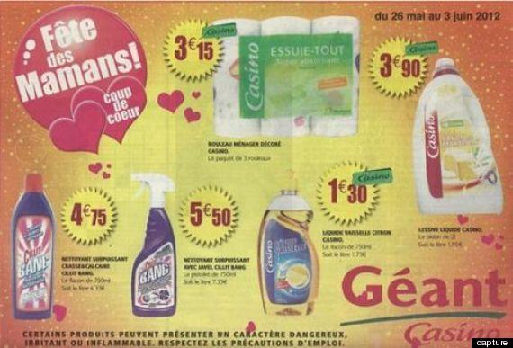 Une publicité de Casino pour la Fêtes des mères, avec des produits d'entretien, fait polémique en Guyane