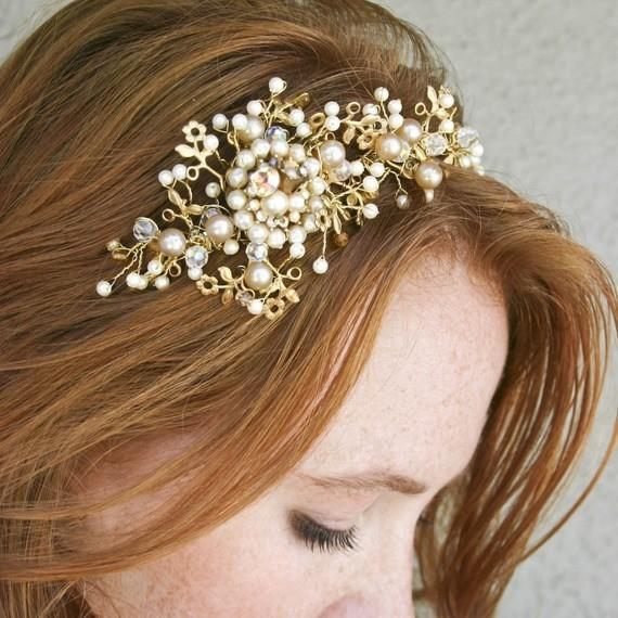 Wedding tiara wedding headband Vintage dream by BeSomethingNew