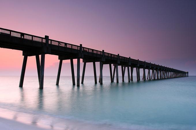Pensacola Beach Pier: Photo by Photographer Daniel Ewert - photo.net