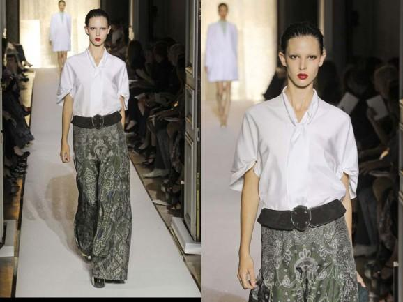Latest Fashion for Women's Clothing at Paris Fashion Week Spring 2012 Nice Combination Long Skirt for Sping 2012 at Paris Fashion Week – More Fashionable