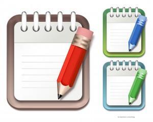 Notepad and pencil icon -psd | E-maniacs