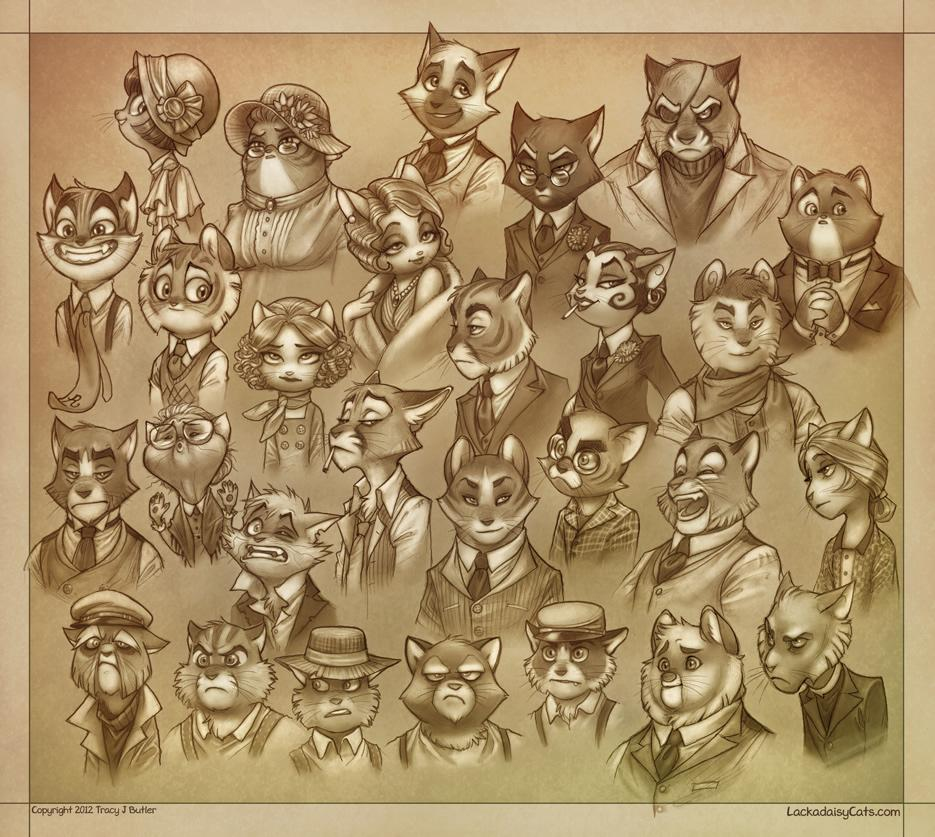 Lackadaisy :: Character Busts