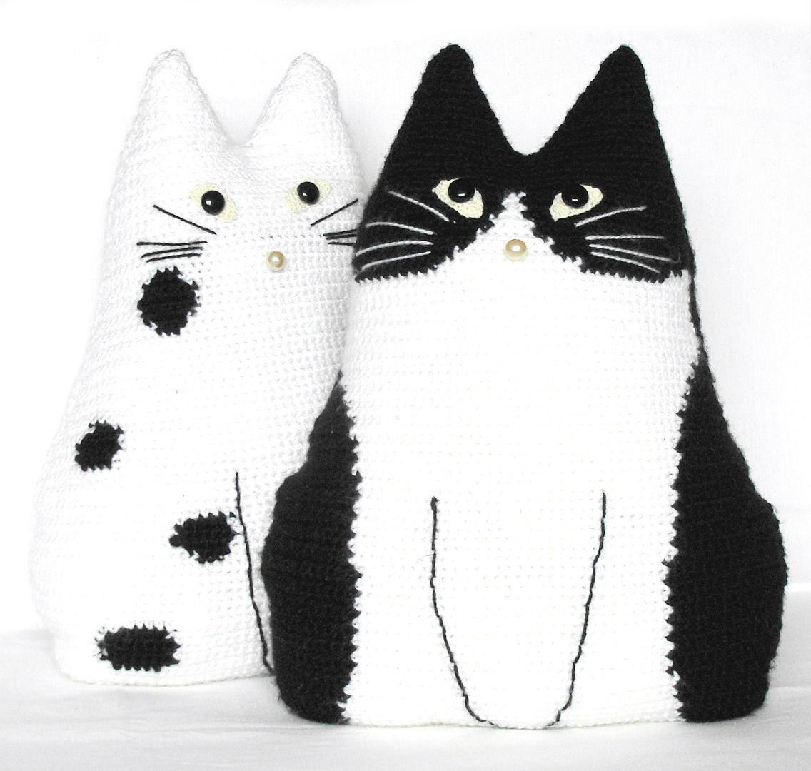 Cute crochet toy pillows set Cat Pals crochet by zolayka